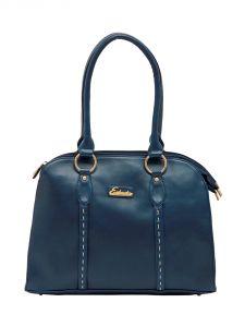 ESBEDA Dark-Blue Color Solid Pu Synthetic Material Handbag For Women-1863