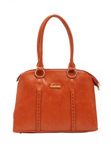 ESBEDA Tan Color Solid Pu Synthetic Material Handbag For Women-1865