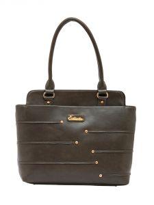 ESBEDA Grey Color Solid Pu Synthetic Material Handbag For Women-1868