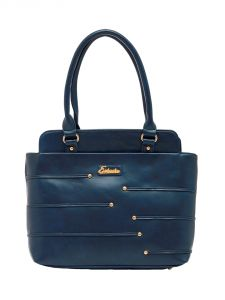 ESBEDA Dark-Blue Color Solid Pu Synthetic Material Handbag For Women-1870