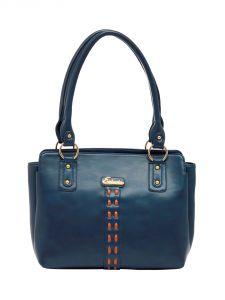 ESBEDA Dark-Blue Color Solid Pu Synthetic Material Handbag For Women-1875