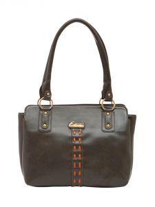 ESBEDA Grey Color Solid Pu Synthetic Material Handbag For Women-1877