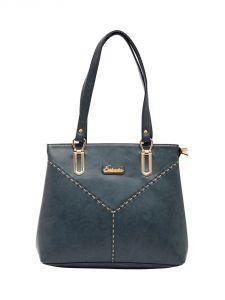 ESBEDA Sky-Blue Color Solid Pu Synthetic Material Handbag For Women-1881