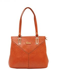 ESBEDA Tan Color Solid Pu Synthetic Material Handbag For Women-1882