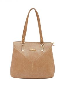 ESBEDA Beige Color Solid Pu Synthetic Material Handbag For Women-1883