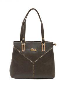 ESBEDA Grey Color Solid Pu Synthetic Material Handbag For Women-1884
