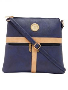 Esbeda Dark Blue Color Solid Pu Synthetic Material Slingbag For Women-1889