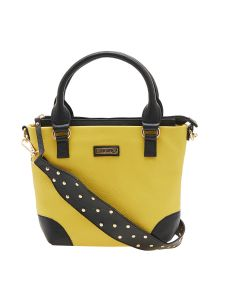 Esbeda Yellow Color Solid Pu Synthetic Material Handbag For Women-1892