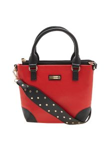 Esbeda Red Color Solid Pu Synthetic Material Handbag For Women-1893