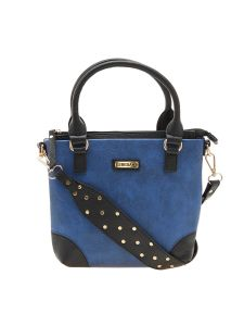 Esbeda Blue Color Solid Pu Synthetic Material Handbag For Women-1894