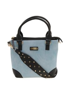 ESBEDA Light Blue Color Solid Pu Synthetic Material Handbag For Women-1895