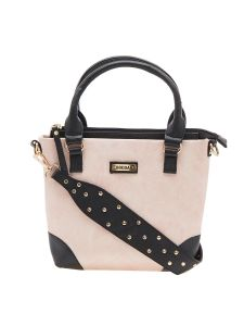 ESBEDA Light Pink Color Solid Pu Synthetic Material Handbag For Women-1896