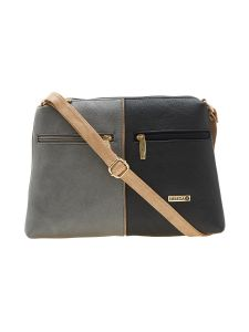 Esbeda Black Color Solid Pu Synthetic Material Slingbag For Women-1898
