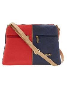 Esbeda Red Color Solid Pu Synthetic Material Slingbag For Women-1902