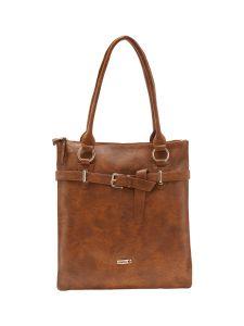 ESBEDA Tan Color Solid Pu Synthetic Material Handbag For Women-1904
