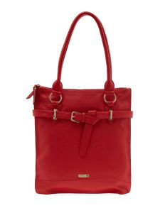 ESBEDA Red Color Solid Pu Synthetic Material Handbag For Women-1905