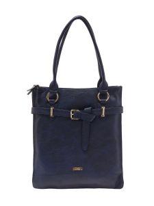 ESBEDA Dark Blue Color Solid Pu Synthetic Material Handbag For Women-1906