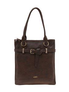 ESBEDA Dark Brown Color Solid Pu Synthetic Material Handbag For Women-1908