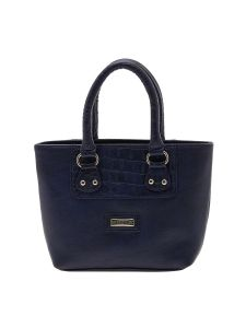 Esbeda Dark Blue Solid Pu Synthetic Material Handbag For Women-1909
