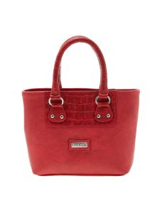 Esbeda Red Solid Pu Synthetic Material Handbag For Women-1912