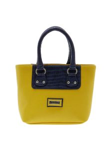 Esbeda Yellow Solid Pu Synthetic Material Handbag For Women-1913