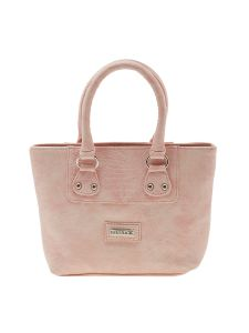 Esbeda Pink Solid Pu Synthetic Material Handbag For Women-1916