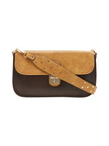 Esbeda Dark Brown Solid Pu Synthetic Material Slingbag For Women-1934