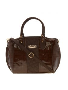 Esbeda Brown Solid Pu Synthetic Material Handbag For Women-1937 (code - 1937)