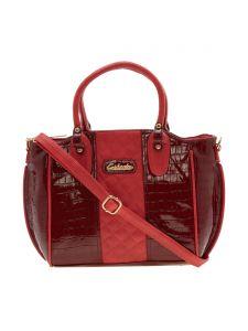 Esbeda Women's Clothing - ESBEDA Maroon Solid Pu Synthetic Material Handbag For Women-1938 (code - 1938)