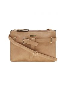 Esbeda Beige Solid Pu Synthetic Material Handbag For Women-1948 (code - 1948)