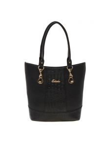 Esbeda Black Solid Pu Synthetic Material Handbag For Women-1980 (code - 1980)
