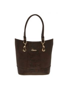 Esbeda Brown Solid Pu Synthetic Material Handbag For Women-1981 (code - 1981)