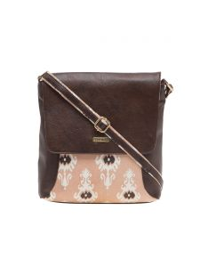 Esbeda Dark Brown Printed Pu Synthetic Material Slingbag For Women(code-1986)