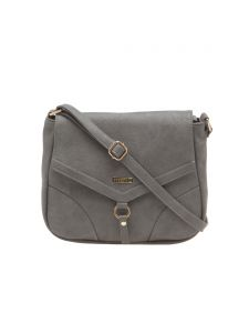 Esbeda Grey Solid Pu Synthetic Material Slingbag For Women(code-1994)