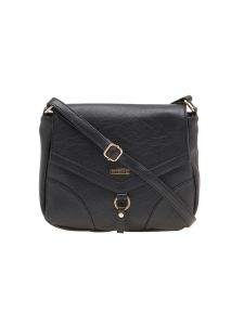 Esbeda Black Solid Pu Synthetic Material Slingbag For Women(code-1997)