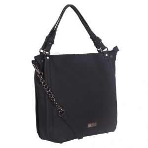 ESBEDA Black Solid PU Synthetic Totebag For Womens (Code - 4219 Black)   Black