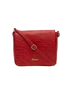 Esbeda Red Textured Pu Synthetic Material Slingbag For Women(code-2003)