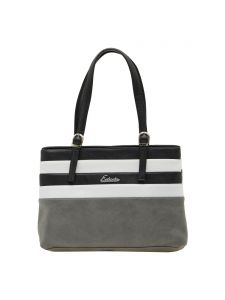 Esbeda Grey Striped Pu Synthetic Material Handbag For Women(code-2015)