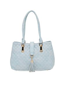 Esbeda Blue Checkered Pu Synthetic Material Handbag For Women (code -2101)