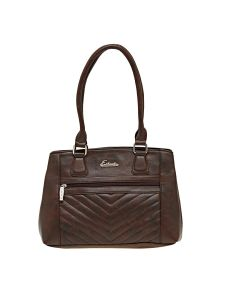Esbeda Brown Solid Pu Synthetic Material Handbag For Women (code -2103)