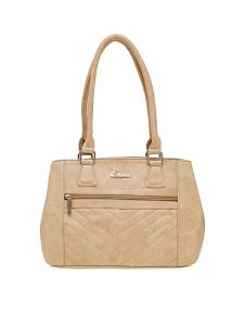 Esbeda Beige Solid Pu Synthetic Material Handbag For Women (code -2104)