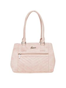 Esbeda Pink Solid Pu Synthetic Material Handbag For Women (code -2106)