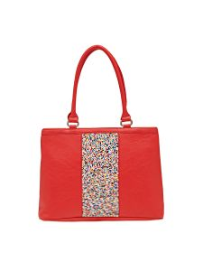 Esbeda Red Solid Pu Synthetic Material Handbag For Women (code -2109)