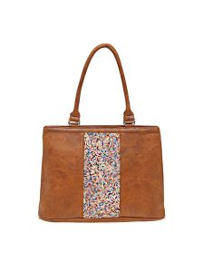 Esbeda Tan Solid Pu Synthetic Material Handbag For Women (code -2111)