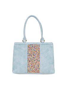 Esbeda Blue Solid Pu Synthetic Material Handbag For Women (code -2112)