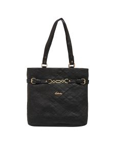 Esbeda Black Checked Pu Synthetic Material Handbag For Women (code-2149)