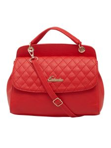 Esbeda Red Checked Pu Synthetic Material Handbag For Women (code-2150)