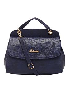 Esbeda Blue Solid Pu Synthetic Material Handbag For Women (code-2155)