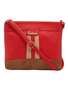 Esbeda Red Solid Pu Synthetic Material Slingbag For Women (code-2158)