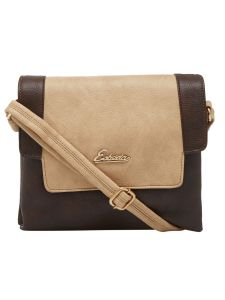 Esbeda Brown Solid Pu Synthetic Material Slingbag For Women (code-2162)